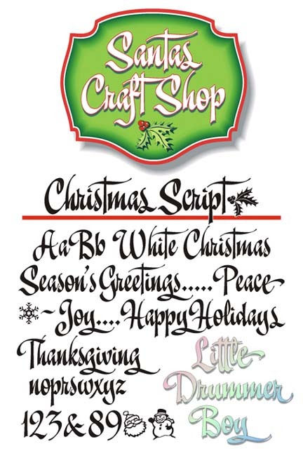 Signfonts.com - Christmas Script, signpainter fonts for signpainters.