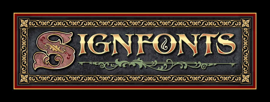 signfontscom hand painted fonts for artist and sign painters